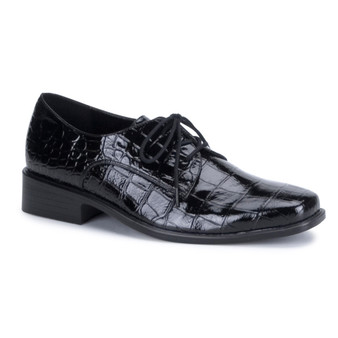 *Men's Faux Alligator Loafter Shoe Featuring a Side buckle
