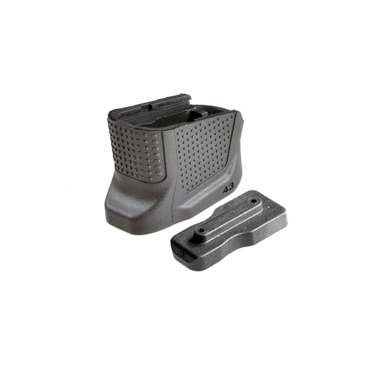 Strike Industries Enhanced Magazine Plate for Glock G42 - Black, Strike Industries Parts, Glock Magazine Base Plate