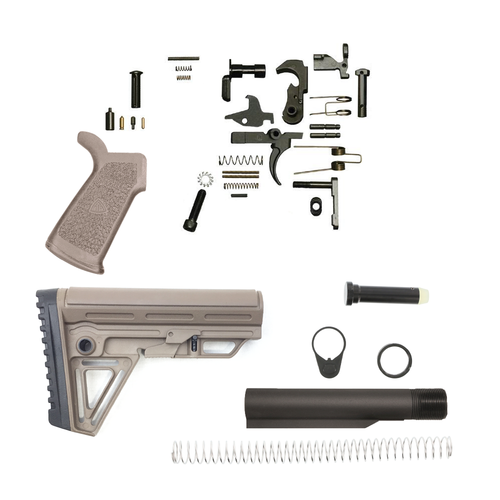 Alpha Lower Build Kit For Ar-15 With DI Grip (FDE)
