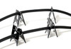 Dedicated Audio Cable Tower V2 Audio/Video Cable Support (Black, Set of 4)