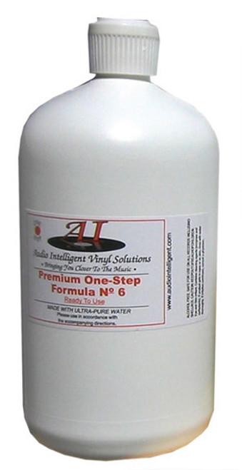 Audio Intelligent Vinyl Solutions Premium 1-Step No. 6 Record Cleaning Fluid (32 Ounces)