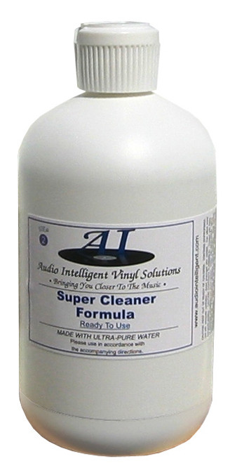 Audio Intelligent Vinyl Solutions Super Cleaner Record Cleaning Fluid (32 Ounces)
