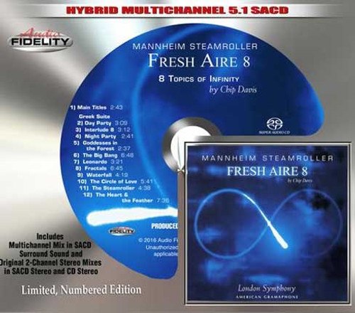 Mannheim Steamroller Fresh Aire 8 Numbered, Limited Edition Hybrid Multi-Channel & Stereo SACD