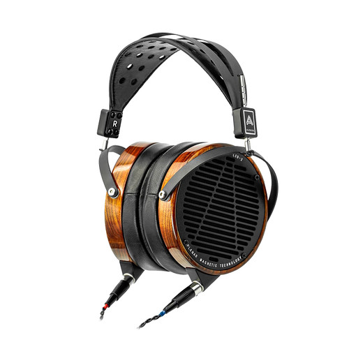 Audeze LCD-2 High-Performance Planar Magnetic Headphones (Caribbean Rosewood, Leather-Free, Ruggedized Travel Case)