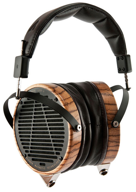 Audeze LCD-3 Ultra High-Performance Planar Magnetic Headphones (Zebrano, Lambskin, Wooden Show Case)