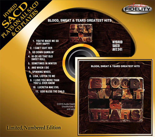 Blood, Sweat & Tears Greatest Hits Numbered Limited Edition Hybrid Stereo SACD