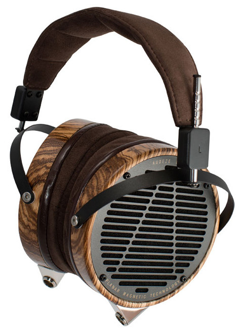 Audeze LCD-3 Ultra High-Performance Planar Magnetic Headphones (Zebrano, Leather-Free, Wooden Show Case)