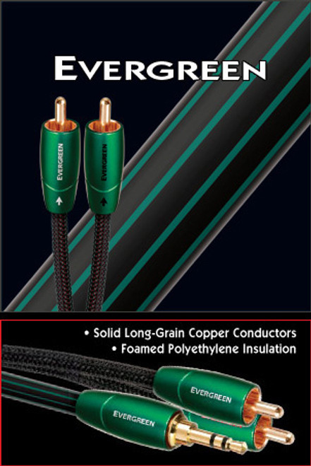 AudioQuest Evergreen 0.6M Pair RCA Interconnect Cable