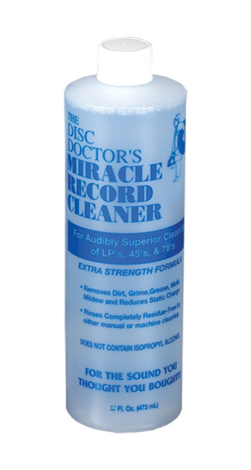 The Disc Doctor's Miracle Record Cleaner Record Cleaning Fluid (32 Ounces)