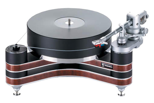 """Clearaudio Innovation Wood Turntable with Universal 9"""" Tonearm (Black with Natural Wood)"""