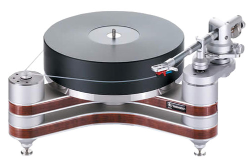 """Clearaudio Innovation Wood Turntable with Universal 9"""" Tonearm (Silver with Natural Wood)"""