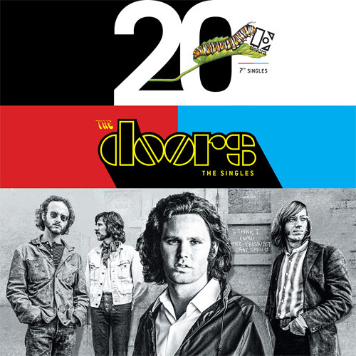 """The Doors The Singles Numbered Limited Edition 45rpm 7"""" Vinyl 20 Singles Box Set"""