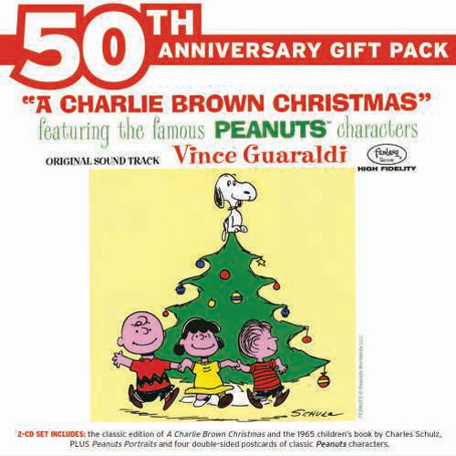The Vince Guaraldi Trio A Charlie Brown Christmas 50th Anniversary Edition 2CD & Book
