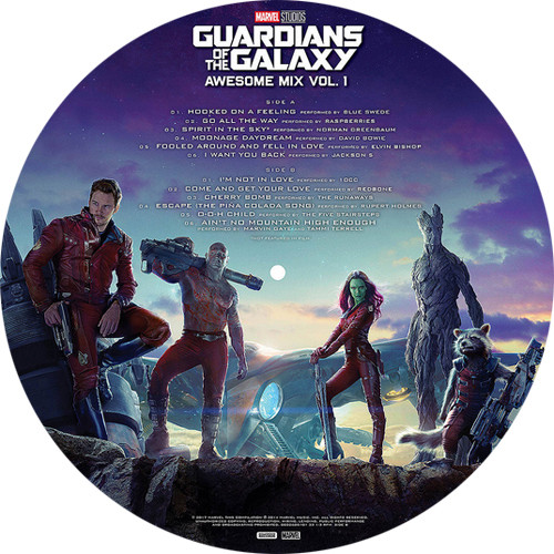 Marvel Guardians of the Galaxy: Awesome Mix Vol. 1 (Starlord Picture Disc)