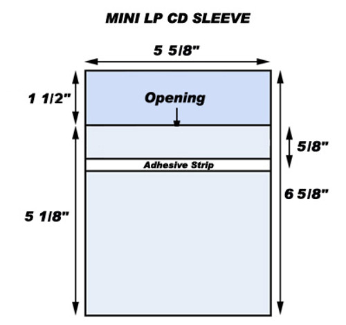 Japanese CD Mini LP Resealable Outer Sleeves (100 Pack)