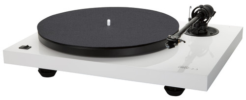 Music Hall MMF-2.3WH Turntable (White) with Spirit MM Cartridge 3.5mV