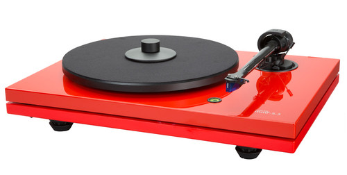 Music Hall MMF-5.3 Turntable with Ortofon 2M Blue MM Cartridge 5.5mV (Red)