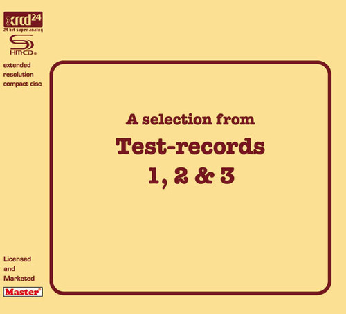 A Selection From Test Records 1, 2 & 3 SHM-XRCD24