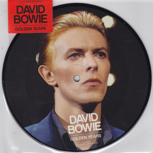 """David Bowie Golden Years 40th Anniversary 45rpm 7"""" Vinyl (Picture Disc)"""