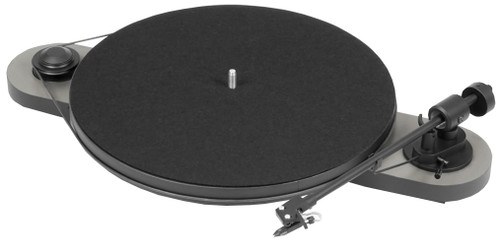Pro-Ject Elemental Turntable with Ortofon OM 5E Cartridge (Silver & Black)