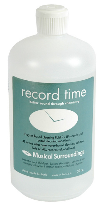 Musical Surroundings Record Time Record Cleaning Fluid (32 Ounces)