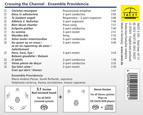 The Ensemble Providencia Crossing the Channel Hybrid Multi-Channel & Stereo SACD