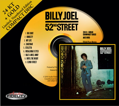 Billy Joel 52nd Street Numbered Limited Edition Gold HDCD