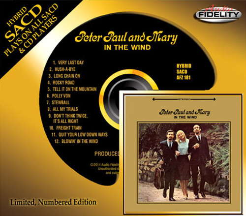 Peter, Paul And Mary In the Wind Numbered Limited Edition Hybrid Stereo SACD