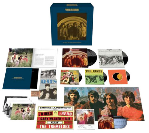 """The Kinks The Kinks Are the Village Green Preservation Society 180g 3LP, 5CD & 3 7"""" Singles Box Set"""