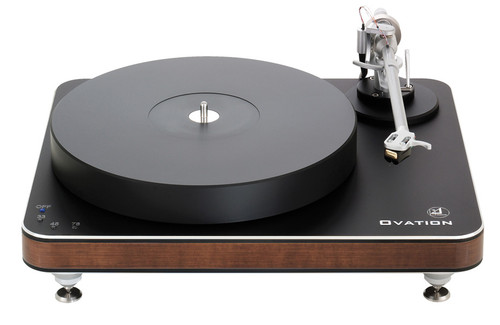 Clearaudio Ovation Turntable With Tracer Tonearm (Black/Wood Finish)