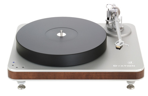 Clearaudio Ovation Turntable With Satisfy Tonearm (Silver/Wood Finish)