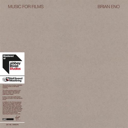 Brian Eno Music For Films Half-Speed Mastered 180g 45rpm 2LP