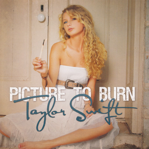 """Taylor Swift Picture To Burn Hand-Numbered Limited Edition 45rpm 7"""" Vinyl (Smoke Gray Vinyl)"""