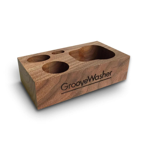GrooveWasher Walnut Display Block