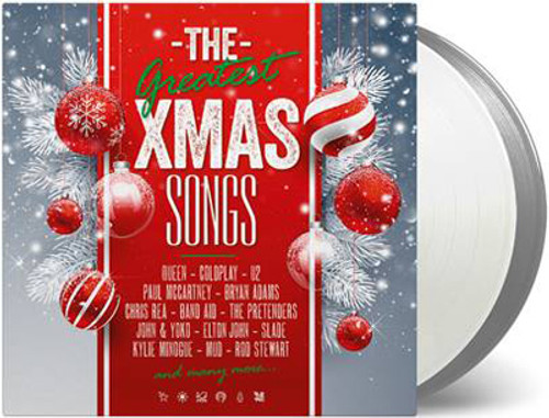 The Greatest Xmas Songs Numbered Limited Edition 180g Import 2LP (1 Silver Vinyl & 1 Clear Vinyl)