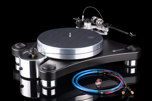 VPI Prime 21+ Turntable with 3D Printed Gimbal Tonearm, Shyla Cartridge, and Weisline Phono Cable (Black)