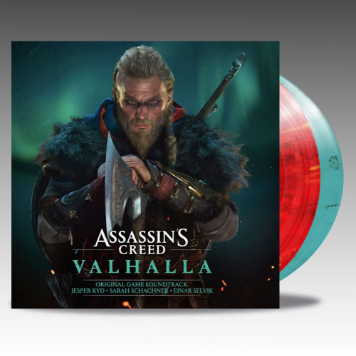 Assassin's Creed Valhalla (Original Game Soundtrack) 2LP (Red With Yellow Spallter & Teal With Black Smoke Vinyl)