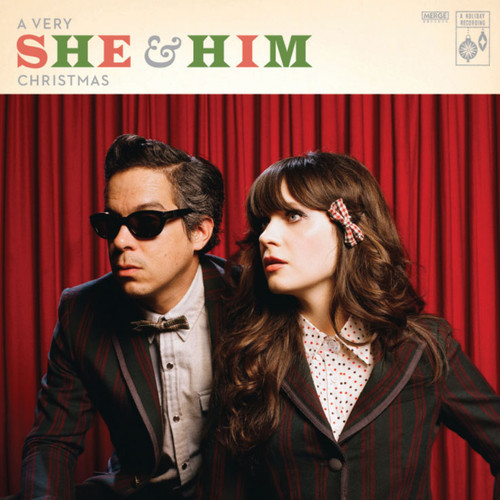 """She & Him A Very She & Him Christmas (10th Anniversary Deluxe) LP & 45rpm 7"""" Vinyl (Silver Vinyl)"""