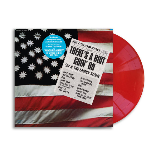 Sly & The Family Stone There's A Riot Goin' On 50th Anniversary LP (Red Vinyl)