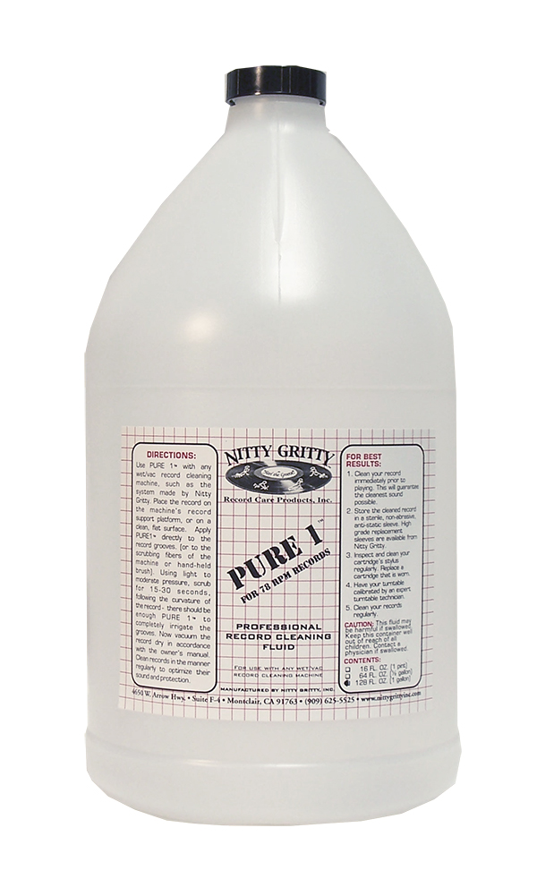Nitty Gritty Pure 1 Record Cleaning Fluid (1 Gallon)