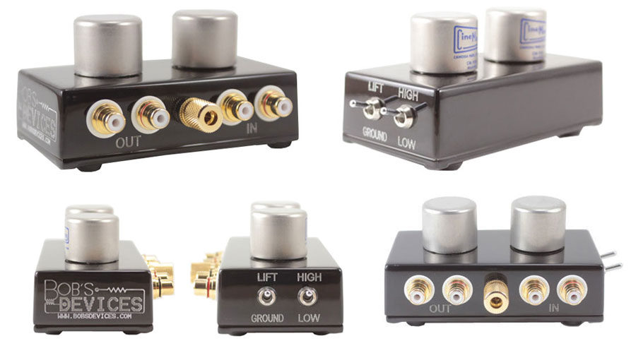 Bob's Devices CineMag 1131 Blue MC Step Up Transformer (RCA, 1:20/1:40 Switchable Gain)