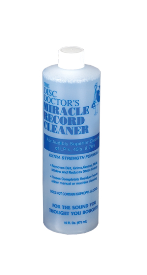 The Disc Doctor's Miracle Record Cleaner Record Cleaning Fluid (16 Ounces)