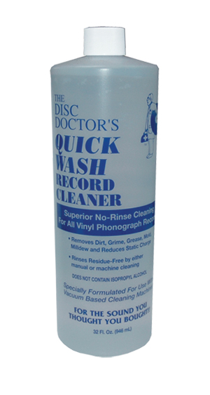 The Disc Doctor's Quick Wash Record Cleaner Record Cleaning Fluid (32 Ounces)