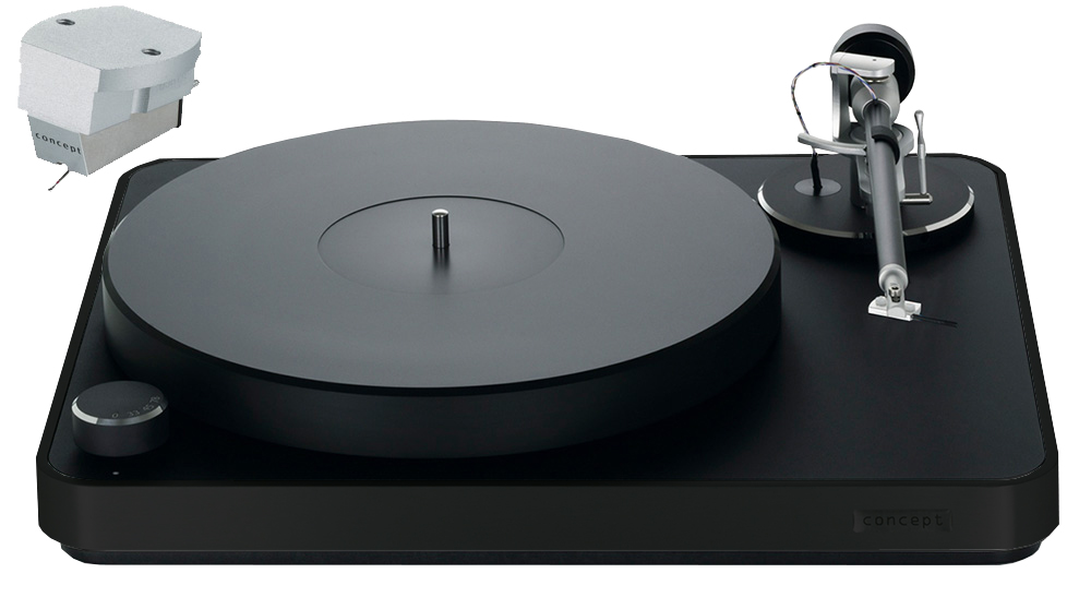 Clearaudio Concept Black Turntable, Concept V2 MM Cartridge & Concept Tonearm Combo