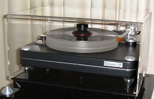 Gingko Audio VPI Scoutmaster Turntable with JMW-10 Tonearm Table Top ClaraVu Dust Cover