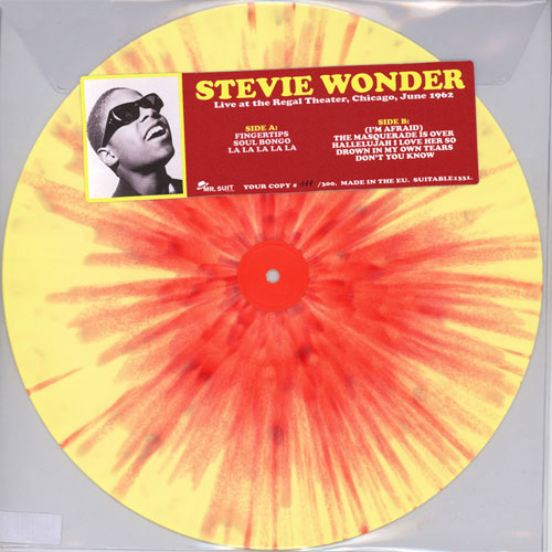 Stevie Wonder Live at the Regal Theater, Chicago, June 1962 Numbered Limited Edition LP (Yellow Vinyl with Red Splatter)