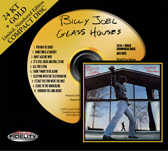 Billy Joel Glass Houses Numbered Limited Edition Gold HDCD