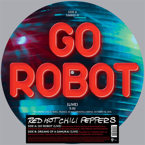 """The Red Hot Chili Peppers Go Robot/Dreams of A Samurai (Live) 12"""" Vinyl Picture Disc"""