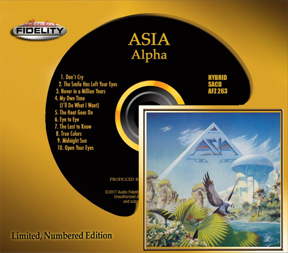 Asia Alpha Numbered Limited Edition Hybrid Stereo SACD
