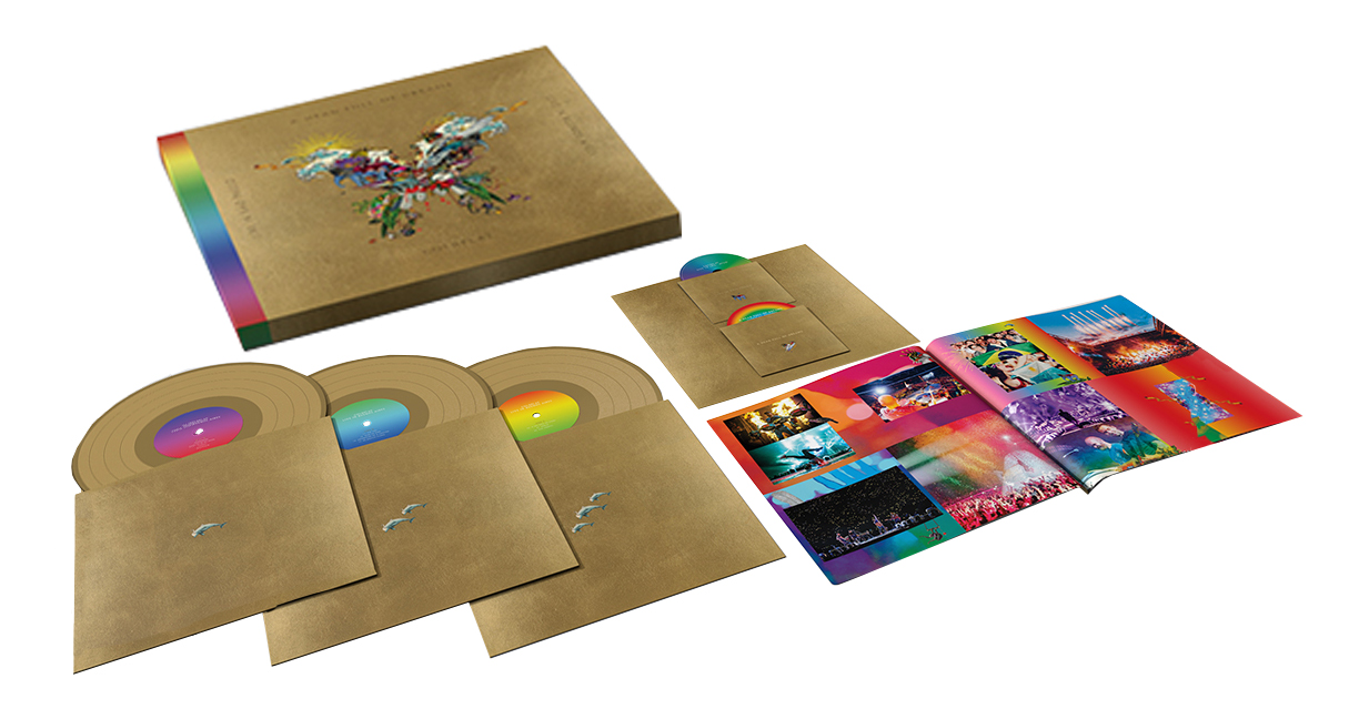 Coldplay Live In Buenos Aires (Butterfly Package) 180g 3LP & 2DVD Set (Gold Vinyl)